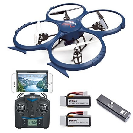 USA Toyz UDI U818A WiFi FPV RC Quadcopter Drone with HD Camera, Battery, Power Bank and VR Headset C