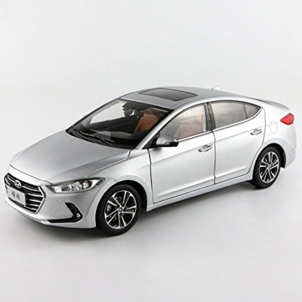 Silver 1/18 Hyundai New Elantra Avante Lingdong 2016 Sedan Alloy Model Car Toy Miniatures Luxury Col
