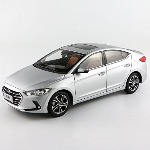 Silver 1/18 Hyundai New Elantra Avante Lingdong 2016 Sedan Alloy Model Car Toy Miniatures Luxury Col