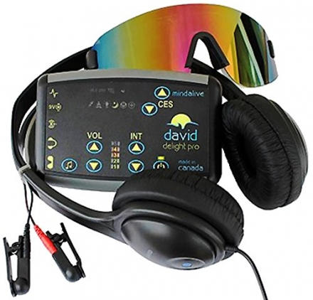 DAVID Delight Pro | Light and Sound Device | MInd Alive's top model Mind Machine | Used for Brain Tr