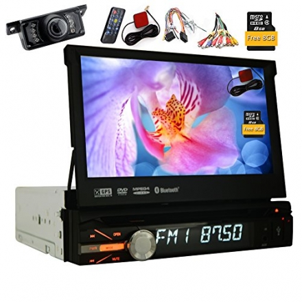 Free Gift Rear Camera 8GB Map Radio Stereo 1 din 7Inch Car DVD Player GPS Navigation in Dash Autorad