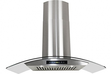Golden Vantage Stainless Steel 30″ Euro Style Wall Mount Range Hood Led Screen