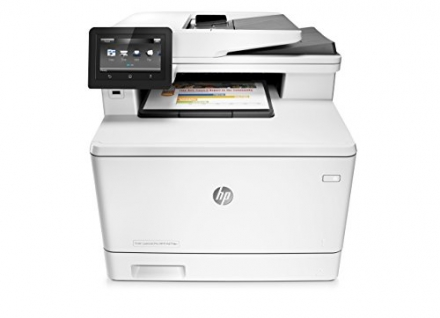 HP Laserjet Pro M477fdn All-in-One Color Printer, (CF378A)