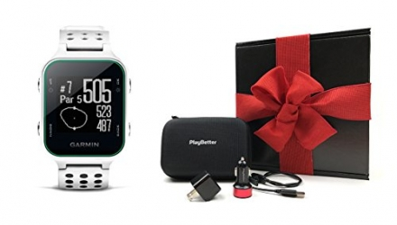 Garmin Approach S20 (White) Gift Box Bundle | Includes Golf GPS Watch/Activity Tracker, PlayBetter U