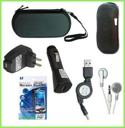 CrazyOnDigital PSP 2000 7 Items Accessory Bundle. CrazyOnDigital Retail Package