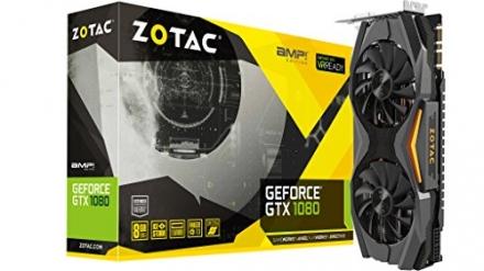 ZOTAC GeForce GTX 1080 AMP! Edition, ZT-P10800C-10P, 8GB GDDR5X IceStorm Cooling, Metal Wraparound C