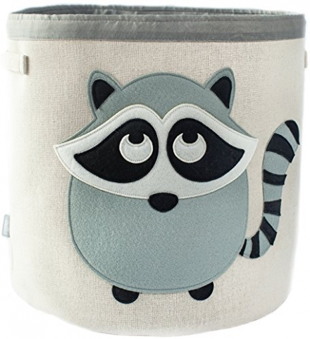 Canvas Storage Bin for Nursery or Kids Room | Animal Theme Collapsible| Great for Play Toys, Organiz