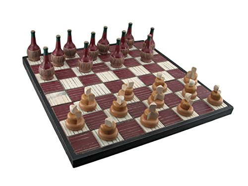 Wine and Cheese Decorative Checkers Set