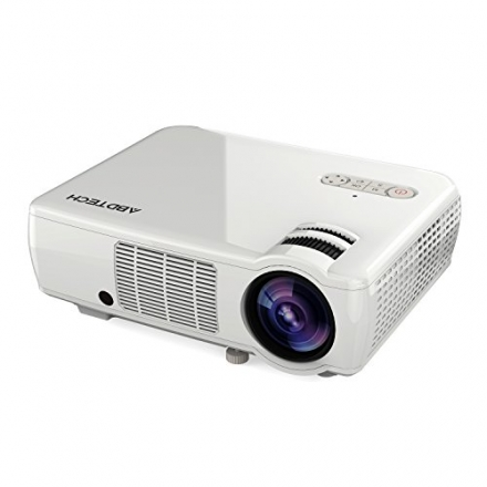 Abdtech 2600 Lumens LED Home Theater Projector Support HD 1080P Video- 5.0 Inch LCD TFT Display With