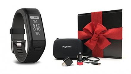 Garmin Approach X40 (X-Large, Black/Gray) Gift Box Bundle | Includes Golf GPS/Fitness Band, PlayBett