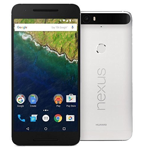 Huawei Nexus 6P H1512 64GB Factory Unlocked – International Version with No Warranty (Frost White)