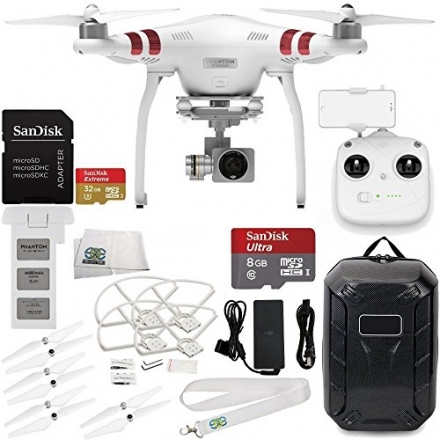 DJI Phantom 3 Standard with 2.7K Camera and 3-Axis Gimbal & Manufacturer Accessories + DJI Propeller