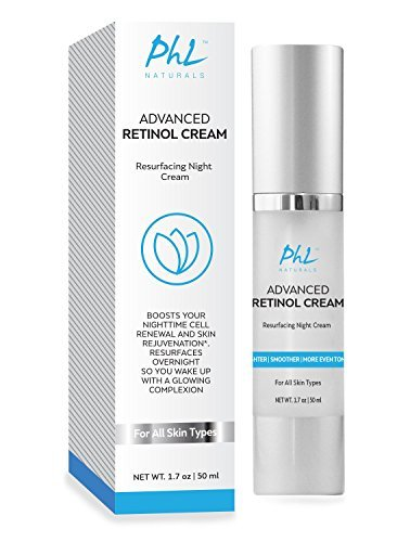 PHL Naturals Advanced Retinol Cream with Hyaluronic Acid – Premium Anti-Aging Night Cream for Cellul