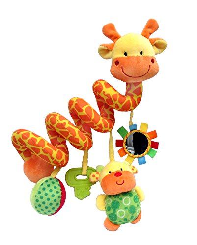 Giraffe Baby Crib Toy From Crib Critters – Wraps Around Crib Rail or Stroller – Baby Toy for Babies