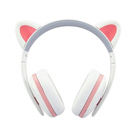 Censi Bluetooth Cat Ear Headphones Over Ear Noise Canceling Wireless Bluetooth Headphones with Mic V