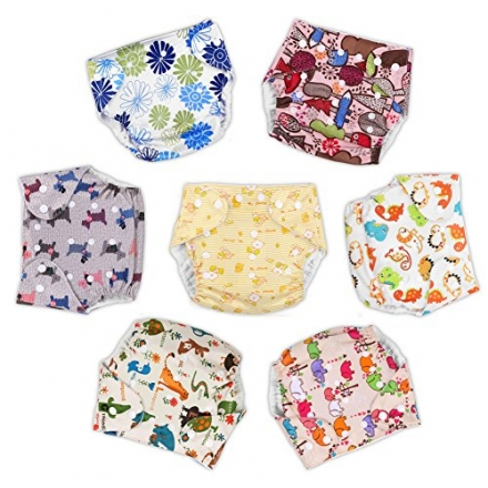 GHB Cloth Diapers Pocket Diapers for Baby 15 Piece Baby Gift Set 7 Pack Pocket Diapers 7 Microfiber