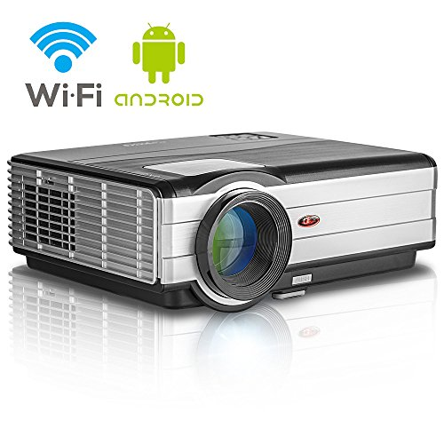EUG Wifi Home Projector LCD 1080p 3500 Lumen WXGA Built-in Android OS Support Airplay DLNA Miracast