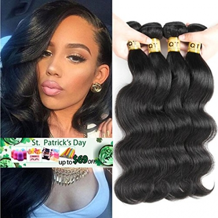QTHAIR 8A Brazilian Virgin Hair Body Wave 4 bundles 16 18 20 22 100% Unprocessed Brazilian Body Wave