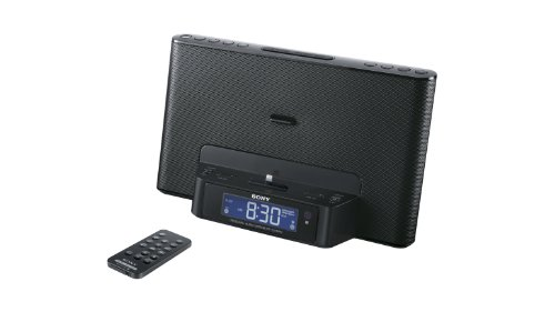 Sony ICFCS15IPN Lightning Alarm Clock Radio Speaker Dock For IPhone 5, iPhone 6, & iPod
