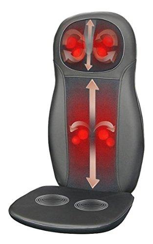 Zyllion ZMA-14-BK FDA Listed Shiatsu Neck and Back Massager Cushion with Heat, Black