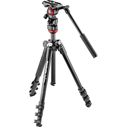 Manfrotto MVKBFR-LIVEUS lightweight, travel friendly Be Free Fluid Video Kit, Black