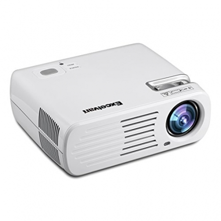 Excelvan 2600 Lumens Low Consumption LED Multimedia HD Home Cinema Theater Projector Support 3D 1080