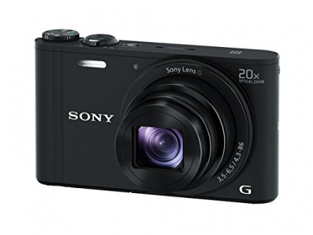 Sony DSCWX350 18 MP Digital Camera (Black)