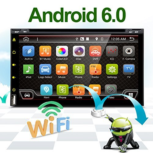 Wifi Model Android 6.0 Quad-Core 6.95″ Full touch-screen Universal Car DVD CD player GPS 2 din Stere