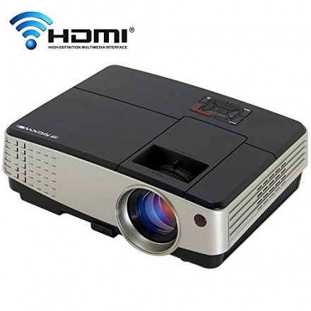 Pico Projector WiFi Wireless LCD Beamer Support 1080P for Home Entertainment Movie Gaming Smartphone