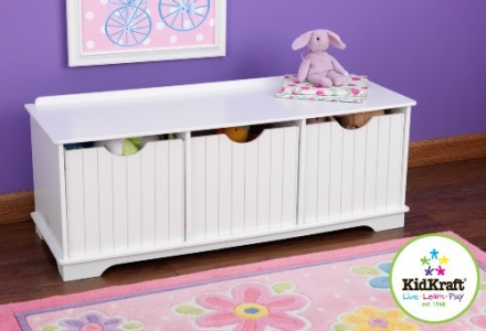 KidKraft Nantucket Storage Bench – White