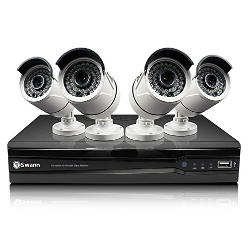 Swann SWNVK-873004 NVR8-7300 8 Channel Network Video Recorder & 4 x NHD-815 3MP Cameras (White)