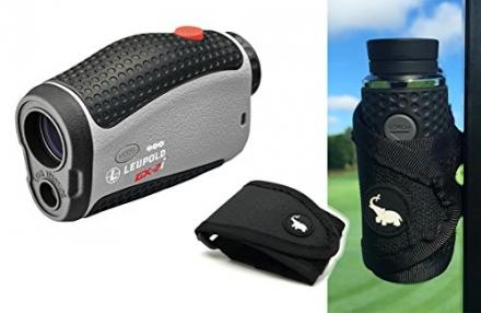 Leupold GX-2i3 Rangefinder with Magnetic Golf Cart Mount (Black) Bundle | Includes Golf Laser Rangef