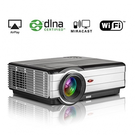 EUG Wireless Home Theater Projector 3500 Lumens LED Entertainment Support HD 1080p 720p Movie Video
