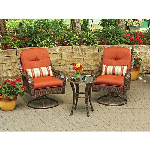 3-Piece Outdoor Furniture Set, Better Homes and Gardens Azalea Ridge 3-Piece Outdoor Bistro Set, Sea