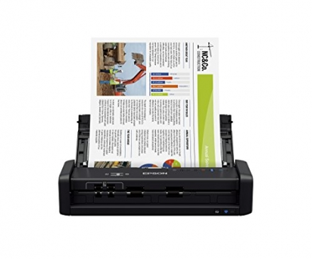 Epson WorkForce ES-300W Wireless Color Portable Document Scanner with ADF for PC and Mac, Sheet-fed