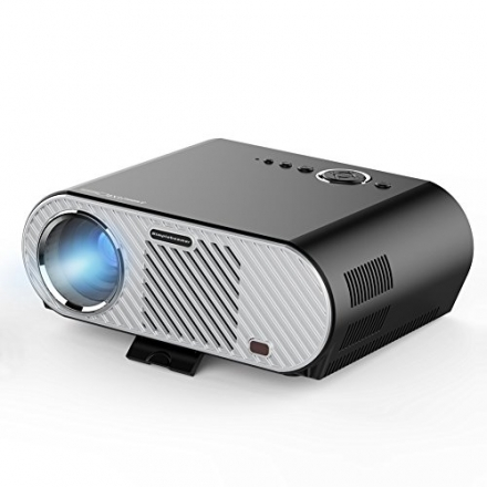 ERISAN Video Projector (Warranty Included), 3200 lumens, Resolution 1280×720, 5.0 Inch LCD TFT, Supp