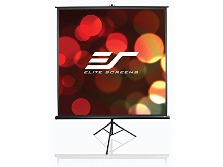 Elite Screens Tripod, 136-inch, Adjustable Multi Aspect Ratio Portable Pull Up Projection Projector
