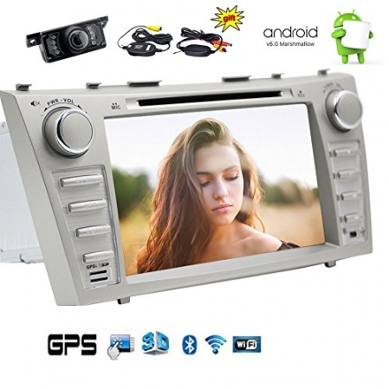 Wireless Rear Camera included! Newest Upgrade TOYOTA Camry 2007-2012 Android 6.0 Car Stereo with Tou
