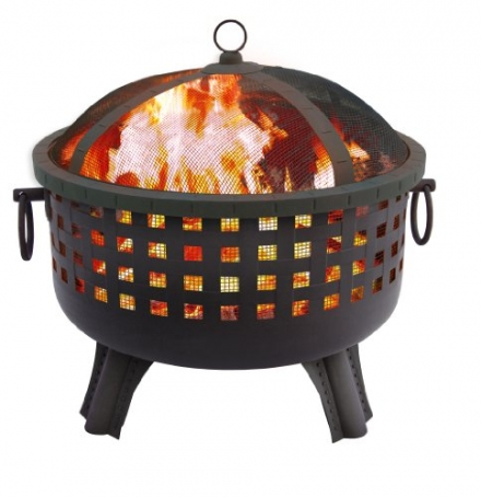 Landmann 26364 23-1/2-Inch Savannah Garden Light Fire Pit, Black
